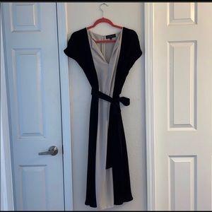 Eloquii colorblock midi dress